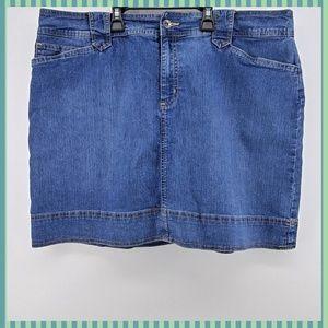 Denim Jean Skorts Shorts~Skirt Size 16